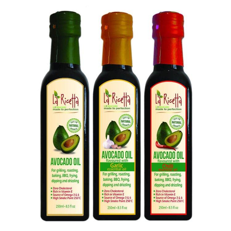 Avocado Oil Set with Original, Garlic & Chilli Oils