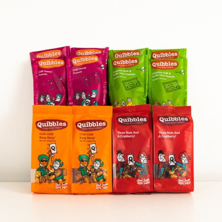 Box of 8 'Spice Addict' Mixed Nut Snack Packs