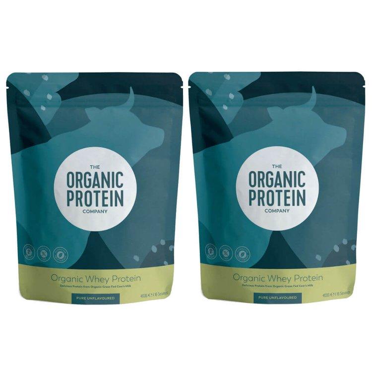 2 x Organic Whey Protein Powder 400g (Get 1 Extra Free)