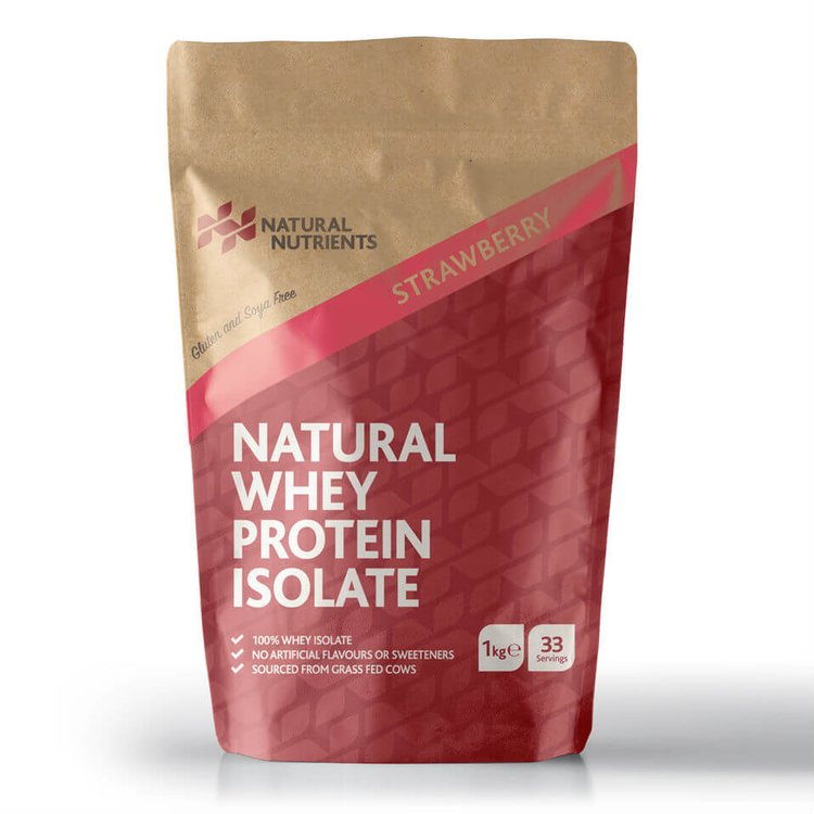Strawberry Whey Protein Powder 1kg (Grass Fed, Hormone Free)