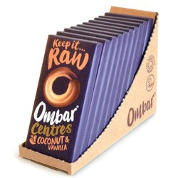 10 x Coconut & Vanilla 'Ombar Centres' Filled Chocolate Bar 35g