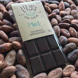 Handmade Mint Raw Chocolate Bar with 76% Peruvian Cacao 50g
