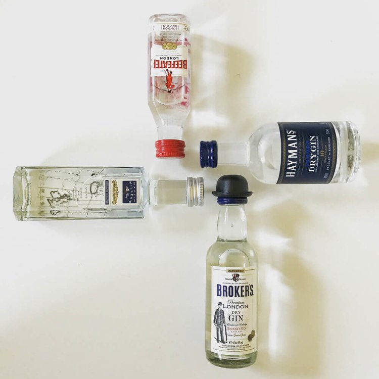 London Dry Gin Tasting Gift Set Inc. Beefeater, Broker's, Hayman's & Martin Miller's Gins