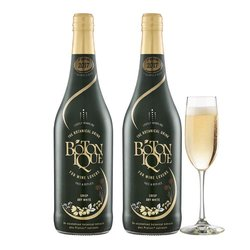 2 Bottles Non-Alcoholic Dry Sparkling White Wine with Botanical Extracts (2 x 750ml)