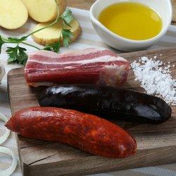 'Compango' Spanish Meats Pack with Smoked Chorizo, Salted Streaky Pancetta & Black Pudding 250g