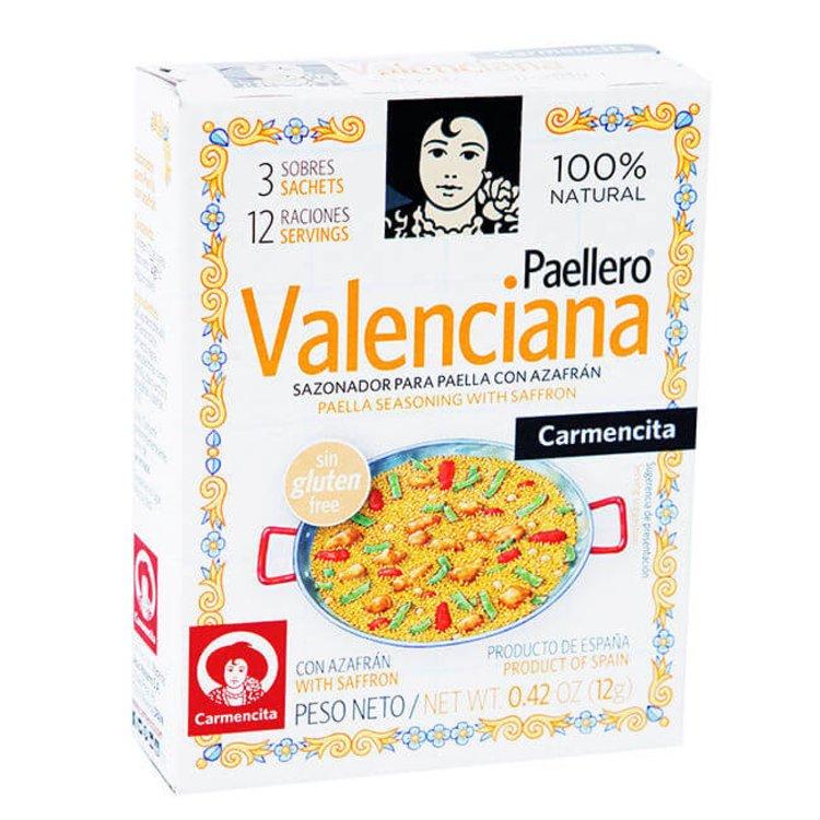 Valencian Paellero Paella Seasoning Mix with Saffron 12g (3 Sachets, Gluten Free)