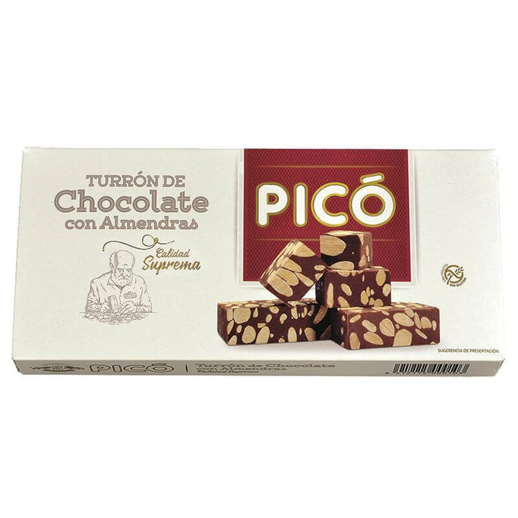 Milk Chocolate Turrón with Toasted Marcona Almonds 200g