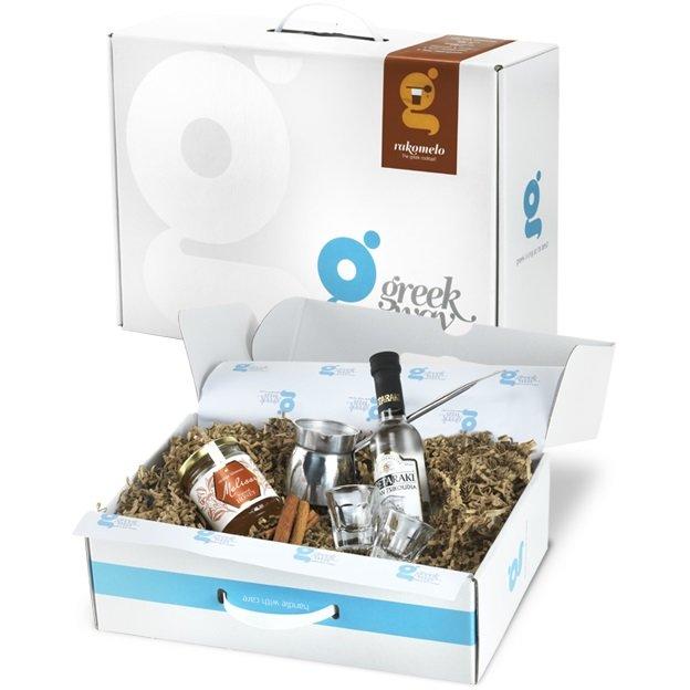 'Rakomelo' Raki & Honey Cocktail Gift Set Inc. Shot Glasses