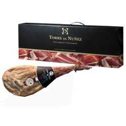 7kg 14 Month Cured Reserva Serrano Ham On The Bone 7kg with Wooden Stand & Carving Knife