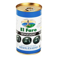 Pitted Black Spanish Manzanilla Olives in Brine (Tin) 350g