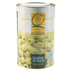 Catering Size Green Pitted Spanish Manzanilla Olives in Brine 4.3kg Tin