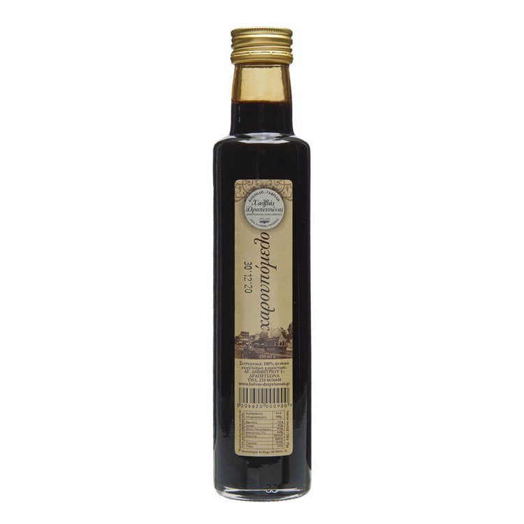 Greek Carob Syrup 250ml (Natural Sweetener for Drinks, Cakes & Ice Cream)