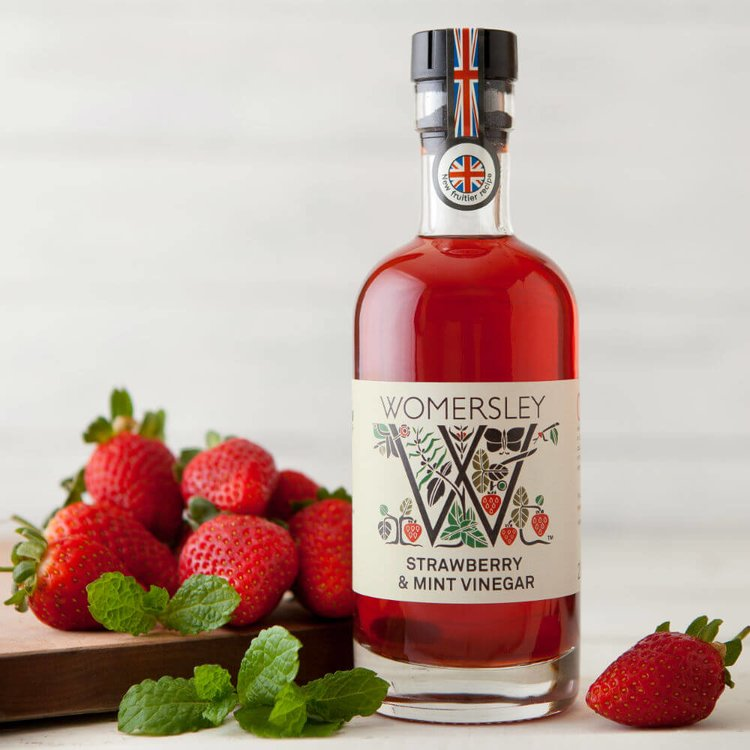 Strawberry & Mint Vinegar 250ml (For Salads, Sauces & Fruits)
