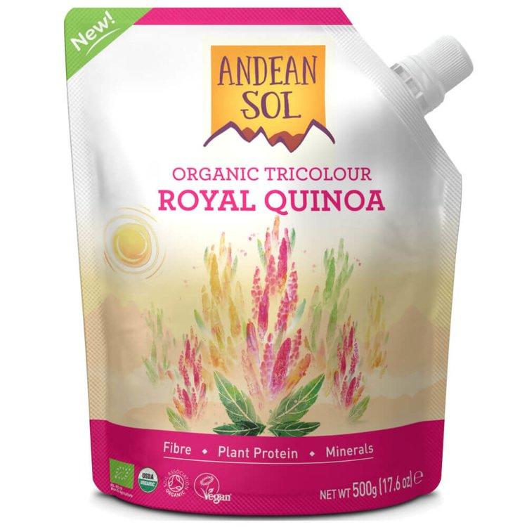 Organic Tricolour Royal Quinoa Pouch 500g
