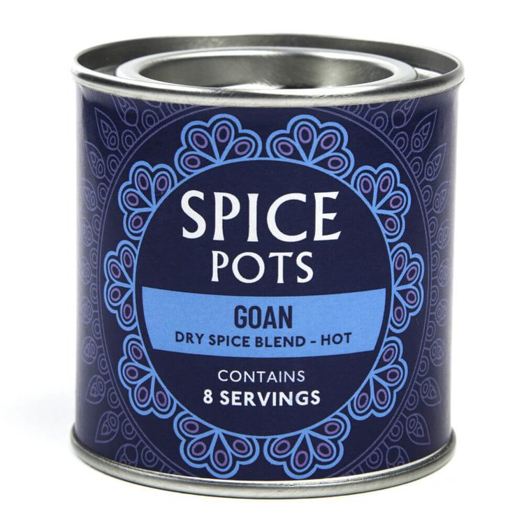 Goan Curry Hot Dry Spice Blend Pot 40g