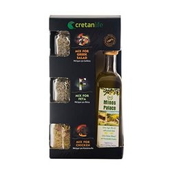Olive Oil & Herb Gift Set Inc. Chicken, Greek Salad & Feta Cheese Herb Blends