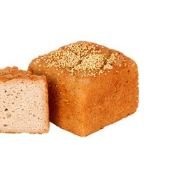 4 x Organic Wholegrain Rice Bread Loaves Gluten Free 385g - Freezable Bread