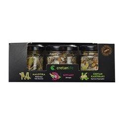 Greek Herbal Tea Set with Mountain Tea, Karteraki & Dittany Blends