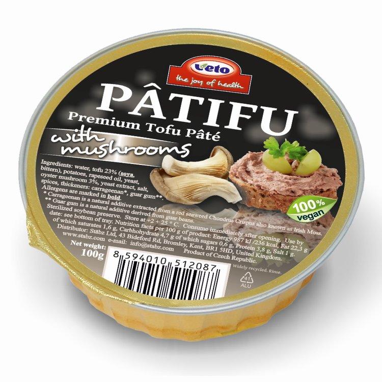 Premium Tofu Pâté with Oyster Mushrooms 100g (Vegan)