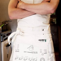 Full Cooking Guide Cotton Apron Gift with Conversion Guides, Cooking Times & More