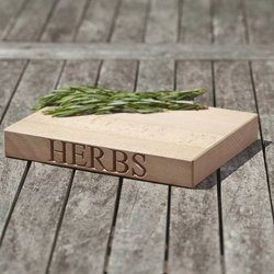 'Herbs' Beech Wood Chopping Board