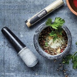 Black Marble Pestle & Mortar