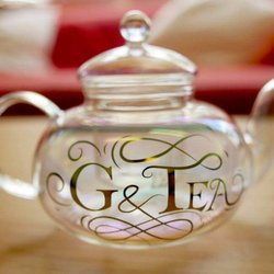 'G & Tea' Teapot & Cups Gift Set (For Cocktails, Gin & Tonics & Tea - Includes Filter Basket)