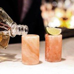 2 Himalayan Pink Salt Shot Glasses in Gift Box
