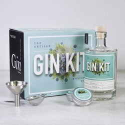 Make Your Own Gin Kit - Gift Box with Recipes, Botanics, Funnel, Sieve & Glass Bottle