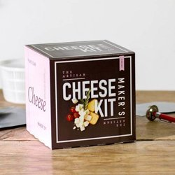 Artisan Cheese Maker's Kit Gift Box with Recipes (Makes Ricotta, Mozzarella, Paneer & More)