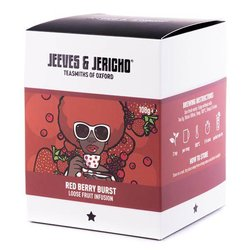 'Red Berry Burst'' Loose Fruit Tea Infusion Blend Inc. Apple, Strawberry & Raspberry 100g