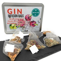 18 Gin & Tonic Botanical Infusion Bags Gift Set with 6 Botanical Flavours
