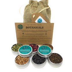 6 Tins of Botanicals & Spices for Gin - Gin Infusion Gift Set for Flavouring & Making Gin