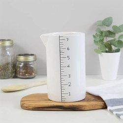 Glazed Ceramic Measuring Jug