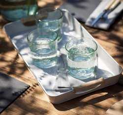 Drinks Tray with Wooden Handles