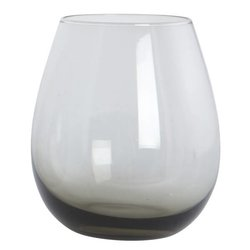 Handmade Water Glass - Smoky Grey