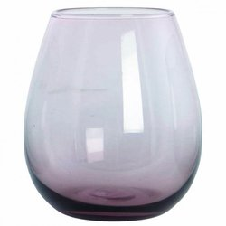 Handmade Water Glass - Smoky Purple