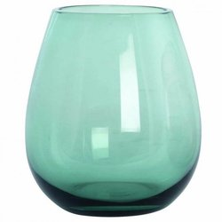 Handmade Water Glass - Smoky Green