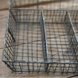 Grey Wire Cutlery Tray