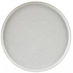 Off-White Handpainted Stoneware Dinner Plate