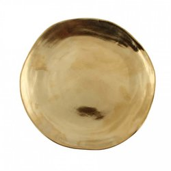 Small Gold Imperfect Roman Porcelain Plate