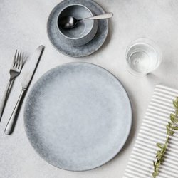 Medium Stone Grey Porcelain Plate