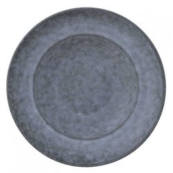 Large Stone Grey Porcelain Plate