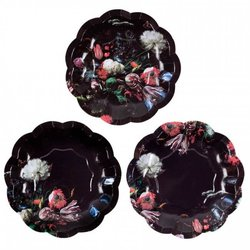 12 Small Baroque Paper Plates