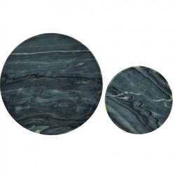 Set of 2 Grey Marble Coasters