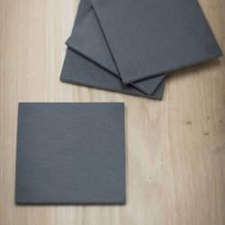 Set of 4 Slate Drink Coasters