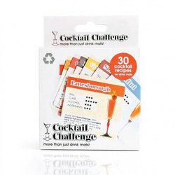 'Cocktail Challenge' Bar Games Cocktail Mats Gift Set - 30 Mats of Cocktail Recipes & Games