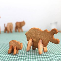Bake Your Own 3D Safari Hippo Animal Cookie Cutter Set