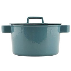 Round Cast Iron Green Casserole Dish Pot