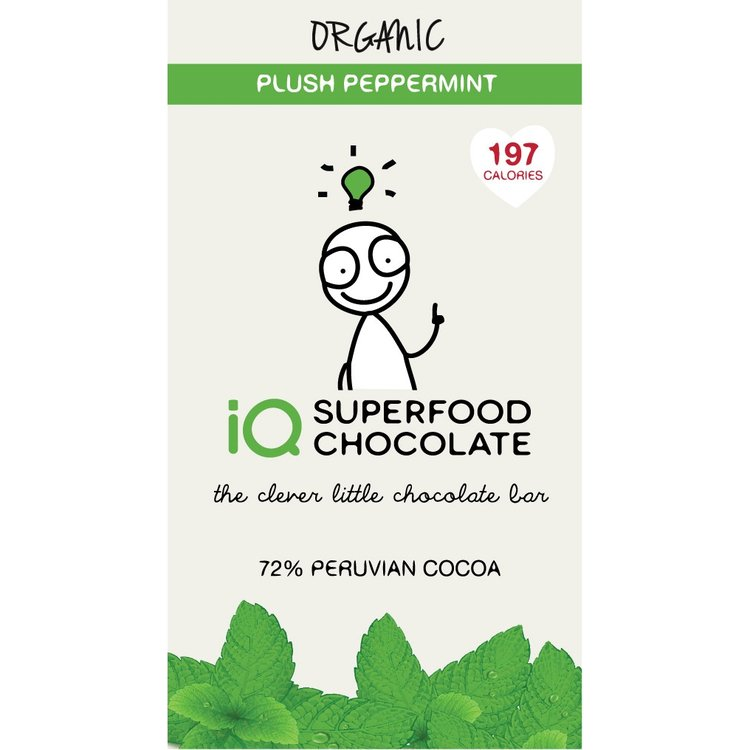 Organic Peppermint Raw Dark Chocolate Bar 35g
